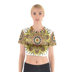 Abstract Geometric Seamless Ol Ckaleidoscope Pattern Cotton Crop Top