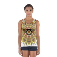 Abstract Geometric Seamless Ol Ckaleidoscope Pattern Women s Sport Tank Top