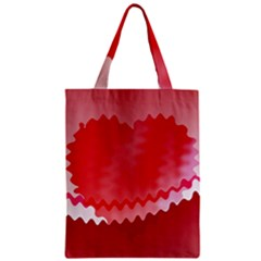 Red Fractal Wavy Heart Classic Tote Bag