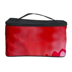Red Fractal Wavy Heart Cosmetic Storage Case