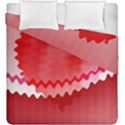 Red Fractal Wavy Heart Duvet Cover Double Side (King Size) View1
