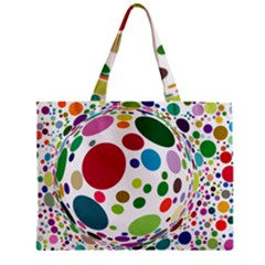 Color Ball Zipper Mini Tote Bag