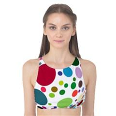 Color Ball Tank Bikini Top