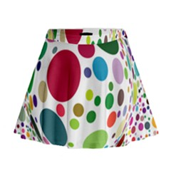 Color Ball Mini Flare Skirt