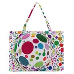 Color Ball Medium Zipper Tote Bag