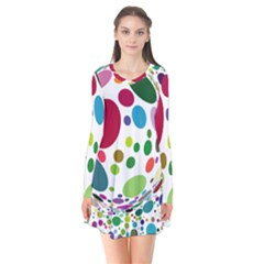 Color Ball Flare Dress