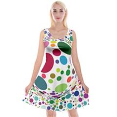 Color Ball Reversible Velvet Sleeveless Dress