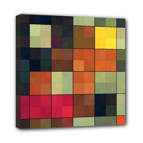 Background With Color Layered Tiling Mini Canvas 8  X 8