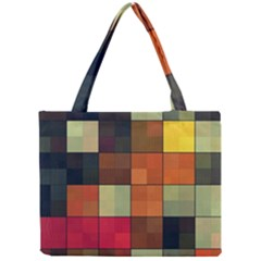 Background With Color Layered Tiling Mini Tote Bag