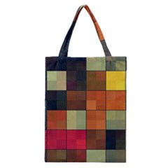 Background With Color Layered Tiling Classic Tote Bag