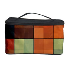 Background With Color Layered Tiling Cosmetic Storage Case