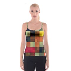 Background With Color Layered Tiling Spaghetti Strap Top