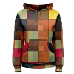 Background With Color Layered Tiling Women s Pullover Hoodie