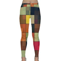 Background With Color Layered Tiling Classic Yoga Leggings