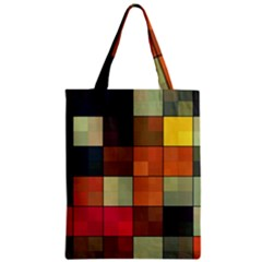 Background With Color Layered Tiling Zipper Classic Tote Bag