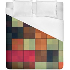 Background With Color Layered Tiling Duvet Cover (california King Size)