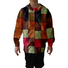 Background With Color Layered Tiling Hooded Wind Breaker (kids)