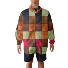 Background With Color Layered Tiling Wind Breaker (kids)