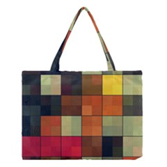 Background With Color Layered Tiling Medium Tote Bag