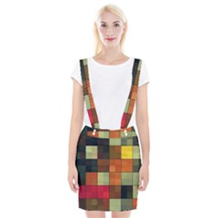Background With Color Layered Tiling Suspender Skirt