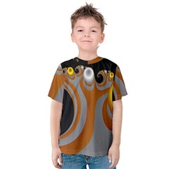 Classic Mandelbrot Dimpled Spheroids Kids  Cotton Tee