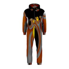 Classic Mandelbrot Dimpled Spheroids Hooded Jumpsuit (Kids)