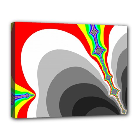 Background Image With Color Shapes Canvas 14  X 11