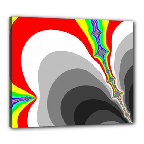 Background Image With Color Shapes Canvas 24  x 20