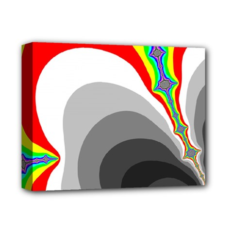 Background Image With Color Shapes Deluxe Canvas 14  X 11