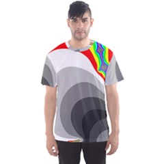Background Image With Color Shapes Men s Sport Mesh Tee