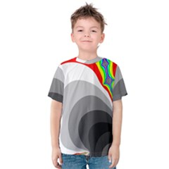 Background Image With Color Shapes Kids  Cotton Tee