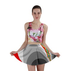 Background Image With Color Shapes Mini Skirt