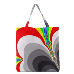 Background Image With Color Shapes Grocery Tote Bag
