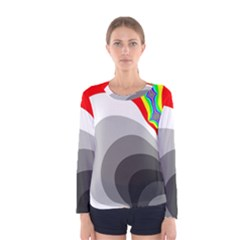 Background Image With Color Shapes Women s Long Sleeve Tee