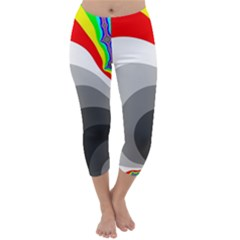 Background Image With Color Shapes Capri Winter Leggings