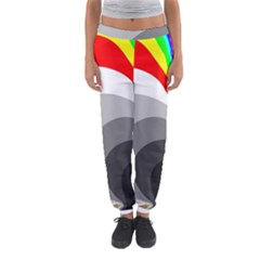Background Image With Color Shapes Women s Jogger Sweatpants