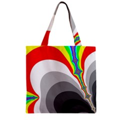 Background Image With Color Shapes Zipper Grocery Tote Bag