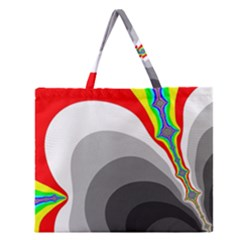 Background Image With Color Shapes Zipper Large Tote Bag