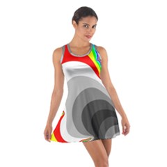 Background Image With Color Shapes Cotton Racerback Dress