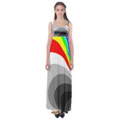 Background Image With Color Shapes Empire Waist Maxi Dress