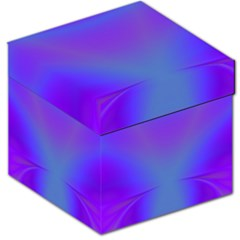 Violet Fractal Background Storage Stool 12