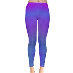 Violet Fractal Background Leggings