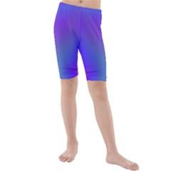 Violet Fractal Background Kids  Mid Length Swim Shorts