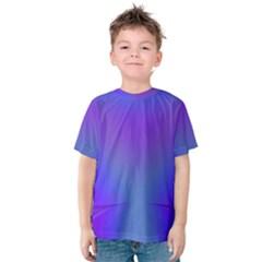 Violet Fractal Background Kids  Cotton Tee