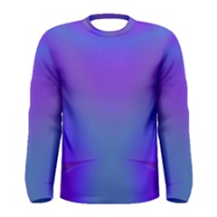 Violet Fractal Background Men s Long Sleeve Tee