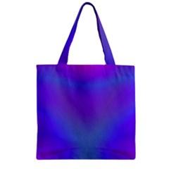 Violet Fractal Background Zipper Grocery Tote Bag