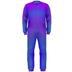 Violet Fractal Background OnePiece Jumpsuit (Men)