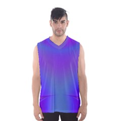 Violet Fractal Background Men s Basketball Tank Top