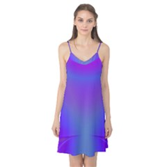 Violet Fractal Background Camis Nightgown
