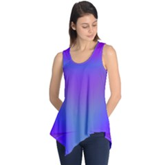 Violet Fractal Background Sleeveless Tunic